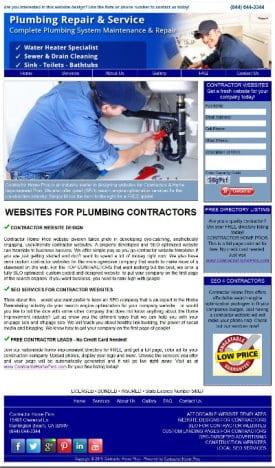 Plumbing Contractor Websites